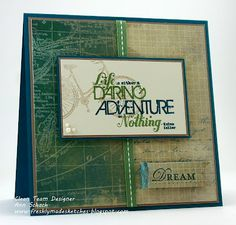 Such a cool masculine card by The Stampin' Schach!