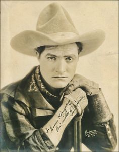 cowboy Tom Mix    I remember my mom telling me we are somehow related to Tom Mix