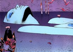 Jean Giraud (Moebius) was a French comic artist & illustrator. Moebius was one of the great creative minds of the last generation. Moebius Comics, Moebius Art, Jean Giraud, Sci Fi Comics, Bd Comics, Comic Book Artists, Comic Artist, Art Inspo, Art Et Illustration