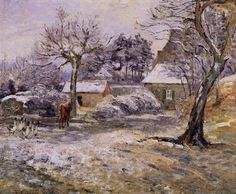 Snow at Montfoucault (1874) - Camille Pissarro