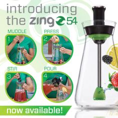 NEW product from Zing Anything - the Zing 54! This carafe is great for #infusing flavored water, as well as iced teas, and even making fresh cocktails! Now available to purchase on ZingAnything.com! #zing #zinganything #fruitwater #infusedwater http://zinganything.com/product/zing54