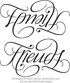 """Family"" & ""Friends"" Ambigram v.2, via Flickr."