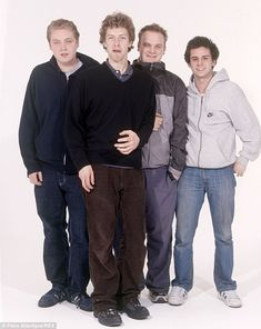 Before Gwyneth: Martin with Coldplay bandmates Guy Berryman, Jonny Buckland, and Will Champion in 1999