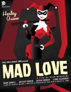 Harley Quinn DC Comics movie poster by Shawn Wolowicz