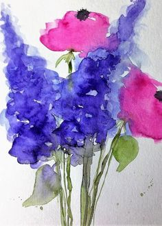 """Flower Painting 1 Greeting Card for Sale by Britta Zehm. Our premium-stock greeting cards are 5"""" x 7"""" in size and can be personalized with a custom message on the inside of the card. All cards are available for worldwide shipping and include a money-back guarantee."""