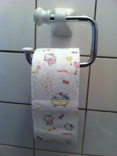 Hahah I don't know if this is legit or if someone colored on the toilet paper!