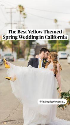 Yellow Flowers, Spring Flowers, Spring Wedding Invitations, California Wedding Venues, Outdoor Wedding Venues, Unique Weddings, Color Pop, Wedding Inspiration, Bride