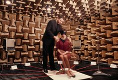 In an anechoic chamber, a teacher in Illinois studies how people detect sound, June 1967.Photograph by James L. Stanfield, National Geographic Creative