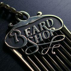 Brass beard comb gadet, only for real bearded gentlemans.