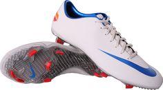 Nike Mercurial Vapor VIII FG Wit Blauw  http://www.voetbalschoenenwinkel.com/nike-mercurial-vapor-viii-fg-wit-blauw-3728/