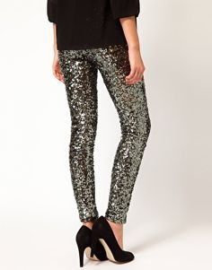 French Connection // Sequin Legging // #party #party #party