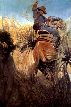 N.C. Wyeth    What he loved in horses was what he loved in men, the blood and…