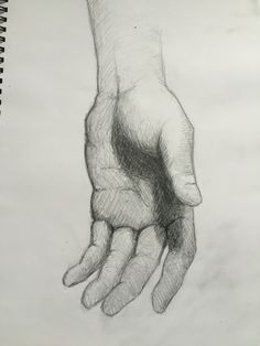 By GoldFinch :3  hand, palm, drawing, pencil