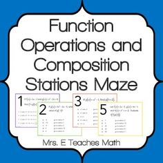 Operations and Compositions of Functions Maze Activity