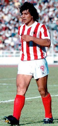 Juan Gilberto Funes. (nicknamed {El Bufalo}). San Luis.Argentina. (08/03/1963 -11/01/1992). Επιθετικός. (1988-1989). (29 συμμετοχές - 10 goal). Athlete, Football, History, Sports, Passion, Red, Style, Greek, Soccer