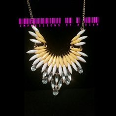 VIBRANT COLORFUL AND  CRYSTAL CHAIN STATEMENT NECKLACE ONLY $10