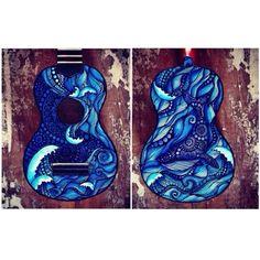 It's a whale on a ukulele