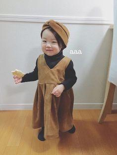 キャメル×チャコールグレー☆ 大人女子♡ 赤ちゃんせんべいじゃなくて サラダせんべい。 兄さんのオヤ