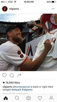 is back in right field tonight Hunter Pence, Captain Hat, Baseball Cards, Park, Instagram Posts, Parks