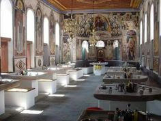 Dining Hall in Vatopedi Monastery, Mount Athos Brewery, Conference Room, How To Plan, Dining, Orthodox Christianity, Furniture, Home Decor, Food, Decoration Home