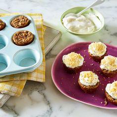 Mini-gâteaux aux carottes avec glaçage au fromage à la crème | Healthy Recipes