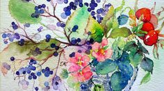 Watercolor by Kannika Soonthornyankit (Bua S on Flickr)