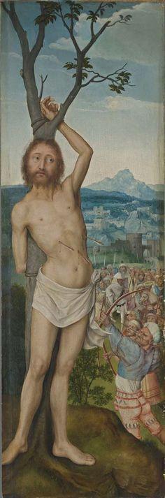 Martyrdom of Saint Sebastian (Rem-Altarpiece) / El martirio de San Sebastián // ca. 1518 // Quinten Massys // Alte Pinakothek München