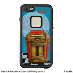 Blue Full Moon and Antique Jukebox LifeProof® FRĒ® iPhone 6/6s Plus Case.  The old and the new! Find your thrill with a new case to protect your new phone and celebrate the oldies and classic rock and roll style. Don't be standing alone. Put a thrill in your heart and a love of your own. This case will Rock your phone around the clock. Different styles available. Grab a malt and two straws and some pocket change for the soda shop sock hop. btw, is that jukebox winking at you?