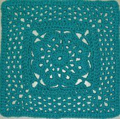 "MoCrochet: More V's Please - 12"" Square designed by Melinda Miller - Free pattern"
