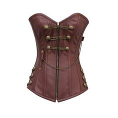 CD-467 Brown Steam punk Style Corset ❤ liked on Polyvore featuring corset and tops
