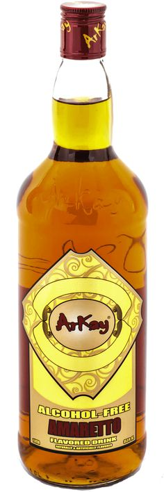 ArKay Alcohol Free Amaretto http://shop.arkaybeverages.com/new-collection/16-alcohol-free-amaretto-liquor-377000050200.html