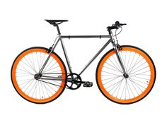 Golden Cycles | Blaze Chrome/Orange Steel Frame Fixed Gear Bike