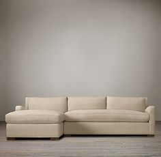 Restoration Hardware, Belgian Slope uphostered right arm sofa chaise sectional