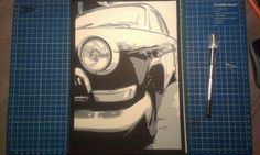GAZ-21 Volga Classic car 4 layer layered paper