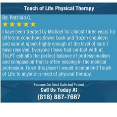 I have been treated by Michael for almost three years for different conditions (lower back...
