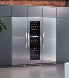 Caple, Pack, Wine Cooler Fridge and Freezer Pack Integrated Wine Cooler, Built In Wine Cooler, Integrated Fridge, Wine Glass Shelf, Glass Shelves Kitchen, Kitchen Cabinets, Kitchen Appliances, Built In Fridge Freezer, Refrigerator Freezer