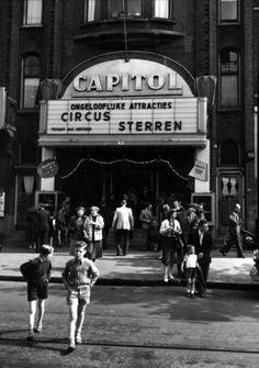 grote bioscoop met een hammond orgel - werd later opgesplitst -studio 62 en GRAND - 1954 Rotterdam Nwe Binnenweg Capitol