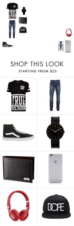 """""""Jawan's Outfit"""" by ivieoww ❤ liked on Polyvore featuring True Religion, Scotch & Soda, Vans, Uniform Wares, Native Union, Beats by Dr. Dre, 21 Men, Christian Dior, men's fashion and menswear"""