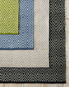 A decorator's best friend... diamonds within diamonds add subtle patterning to any high-traffic room or protected outdoor living space on this handwoven rug of soft, durable polypropylene.