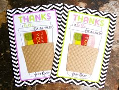 Thanks a Latte Card  for Coffee Gift Card  by LunaPetuniaDesigns, $6.00