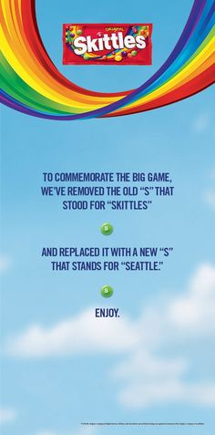 Well done Skittles #advertising