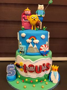 Adventure Time! Adventure Time, Birthday Cake, Cakes, Desserts, Food, Food Cakes, Tailgate Desserts, Birthday Cakes, Meal