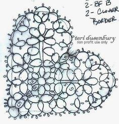 TATtle TALES Tatting Patterns: Tatting Schematics Down and Dirty Hearts in the Raw 21-40