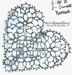 TATtle TALES Tatting Patterns: Tatting Schematics Down and Dirty Hearts in the Raw 21-40