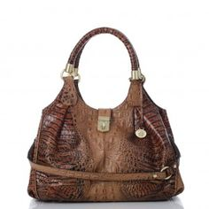 16430159f Brahmin Toasted Almond Collection Elisa Satchel I want this bag!