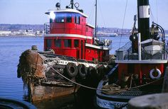 Tugboats in Belfast Harbour