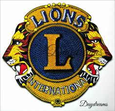 This is one of my most challenging projects so far. I was asked to make a Quilled version of the Lion's club i. Lions Clubs International, Year Of The Monkey, Bottle Cap Images, Paper Quilling, Daydream, Paper Art, Essex Junction, Logos, Ibm