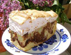 W Mojej Kuchni Lubię - In My Kitchen I like: pyszne, łatwe ciasto ucierane z rabarbarem i pianką bezową...
