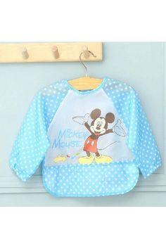Bavoir pour bébé avec manches style Disney