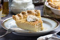 This simple, custard-style pie is made with a splash of something you might have caught Granny sippin' when no one was lookin'!
